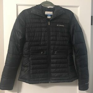 Columbia Black Winter Coat w/ OmniShield and good